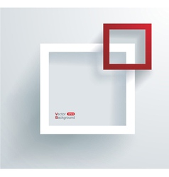 White and red frames on the wall vector image
