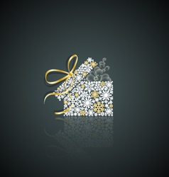 Christmas present vector image vector image