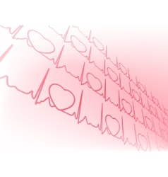 Heart cardiogram with heart EPS 8 vector image vector image