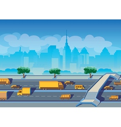 highway in a big city vector image vector image