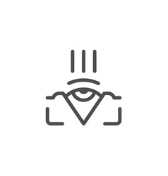 Ophthalmology line icon vector