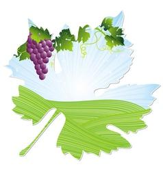 wine pink leaf vector image vector image