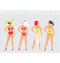 women in swimsuit beautiful women in bathing vector image