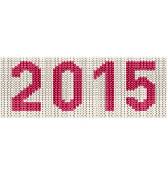 Woven 2015 number vector image
