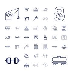 37 heavy icons vector