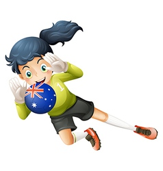 A player using the ball from Australia vector