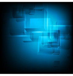 abstract cube tech background vector image