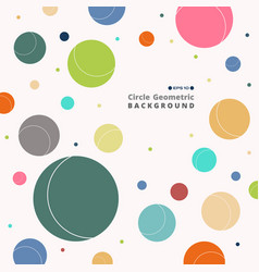 abstract of colorful retro circle pattern vector image