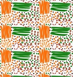 Abstract orange and green strokes with circles vector