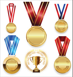Awards and trophies collection vector