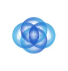 blue circle tech logo vector image
