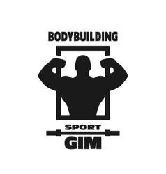 Bodybuilding sport gym symbol vector image