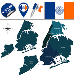 Boroughs of new york city vector