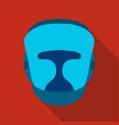 boxing helmet icon in flate style isolated on vector image
