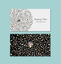 Business card design floral mandala vector