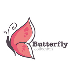 Butterfly insect isolated emblem corporate vector