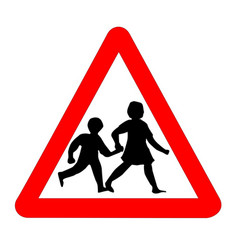 children traffic sign isolated vector image