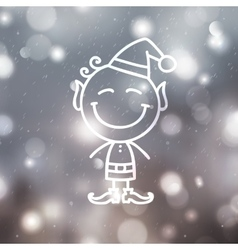 Christmas angel on blurred background vector