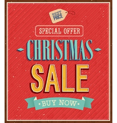 Christmas sale typographic design vector