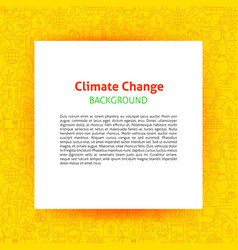 climate change paper template vector image