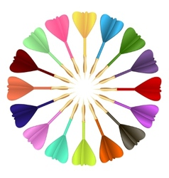 Colored darts vector image