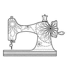 Coloring sewing machine vector
