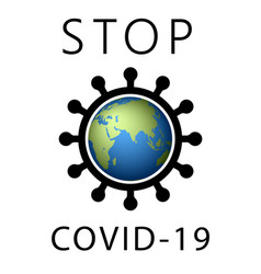 coronavirus 2019-ncov world stop icon corona vector image