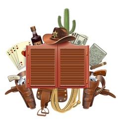 Cowboy Saloon Concept vector