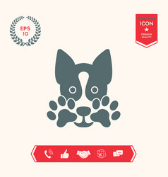 Cute dog paw - logo symbol protect sign vector