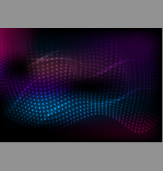 dark abstract futuristic hi-tech wavy background vector image