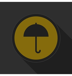 dark gray and yellow icon - umbrella vector image