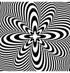 Design monochrome swirl rotation background vector