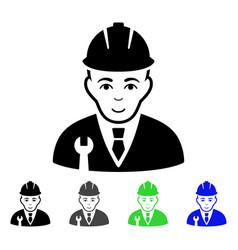 Developer flat icon vector