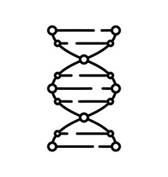 DNA icon Logo template of DNA DNA symbol sign vector