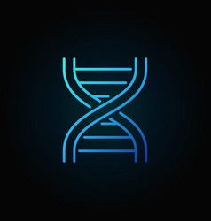 Dna strand blue icon or symbol in thin line style vector