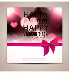Elegant greeting card with hearts and copy space vector image