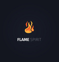 Flame spirit logo template vector