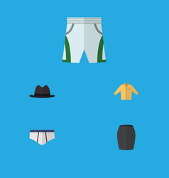 Flat icon clothes set of trunks cloth vector