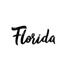florida - hand drawn lettering name of usa state vector image
