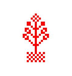 flowerpot symbol vector image