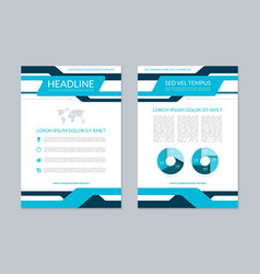 Flyer brochure layout template A4 size vector image