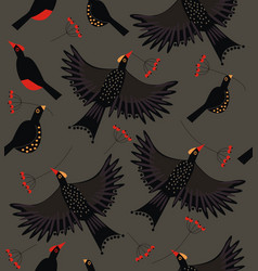 Forest bird flock vector