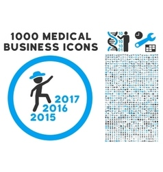 Gentleman Steps Years Icon with 1000 Medical vector