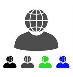 Global politician flat icon vector