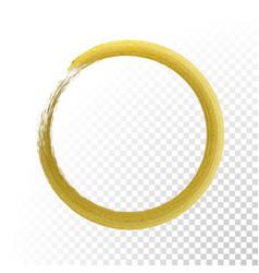 gold circle glitter texture paint brush vector image