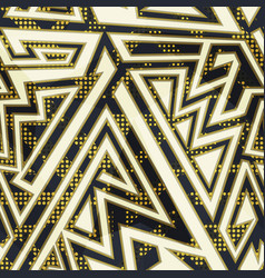 gold color geometric seamless pattern vector image