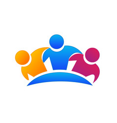 Group friends together icon vector