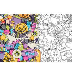 Halloween background template for flyer brochure vector
