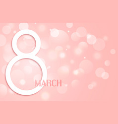 happy womens day banner paper cut 8 march vector image