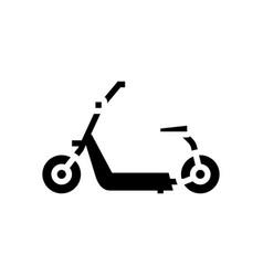Hover cart glyph icon vector